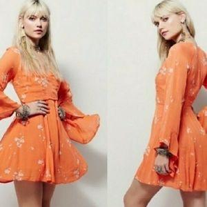 Free People Jasmine Embroidered Mini Dress - XS